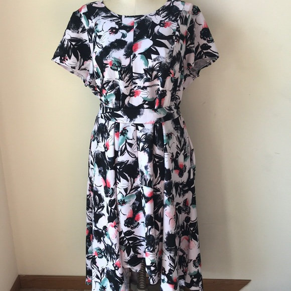 38d7b0187c9 Lane Bryant Belted High-Low Maxi Dress NEW 24P